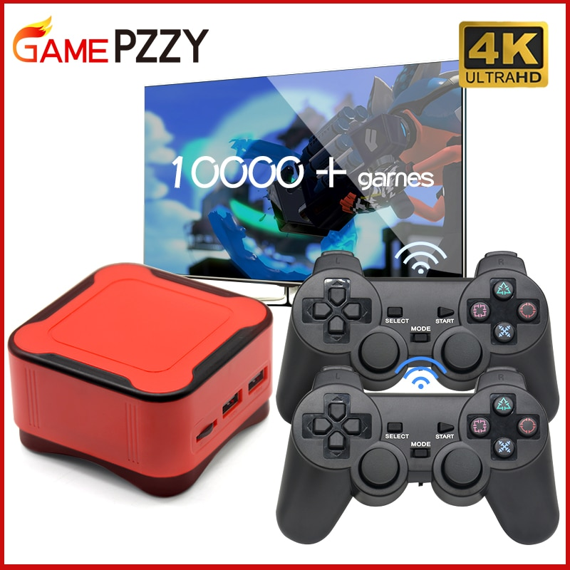 Mini Video Game Console With Wirde/Wireles Controller 4K HD Retro Game Console With Speaker Support PS1 CPS Games