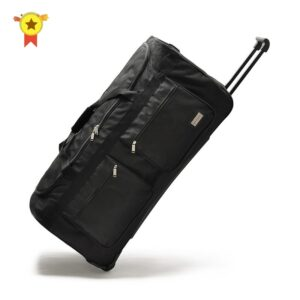 "High quality 32""40"" Inch super large rolling luggage bag big trolley travel bag on wheels canvas High capacity hight 100cm"