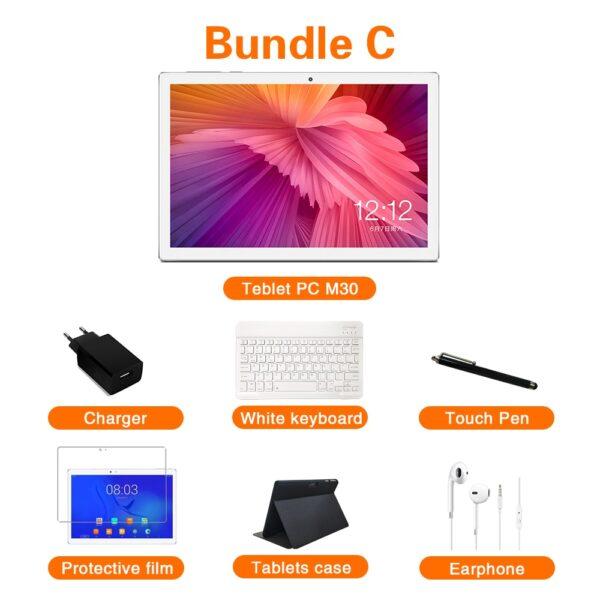 Newest Teclast M30 10.1 inch Tablet MT6797 X27 Deca Core 2560 x 1600 2.5K IPS Screen Dual 4G 4GB RAM 128GB ROM Android Tablet pc