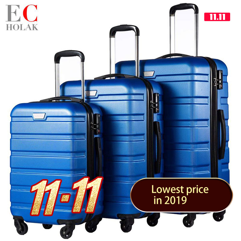 3 Piece Set Family suit Rolling Luggage with Lock Spinner Lightweight High Strength Carry On Suitcase business Travel Luggage