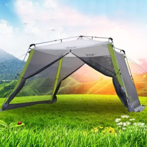 Automatic Aluminum Ultralarge 300*300*210CM 5-8 Person Anti-mosquito Camping Tent Large Gazebo Sun Shelter