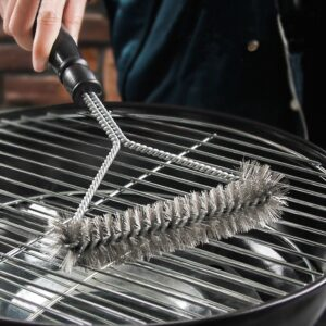 Kitchen Accessories BBQ Grill Barbecue Kit Cleaning Brush Stainless Steel Cooking Tools Barbecue Gadgets Accessories Brushes