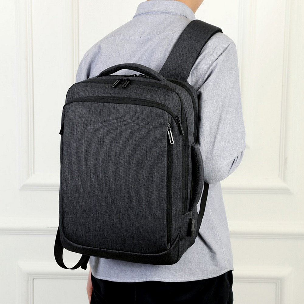 Litthing Laptop Backpack Men Male Backpacks Business Notebook Mochila Waterproof Back Pack USB Charging Bags Travel Bagpack