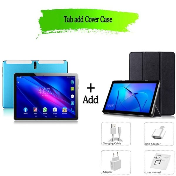 New Tablet Pc 10.1 inch Android 9.0 Tablets Octa Core Google Play 3g 4g LTE Phone Call GPS WiFi Bluetooth Tempered Glass 10 inch
