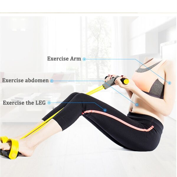 4 Resistanc Elastic Pull Ropes Exerciser Rower Belly Resistance Band Home Gym Sport Training Elastic Bands For Fitness Equipment