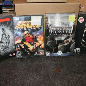 Lot of 4 PC Games Evolve and Duke Nukem Forever (New), Medal of Honor:Pacific &