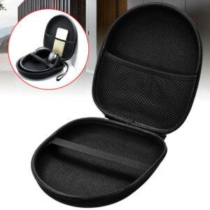 Portable Large EVA Headset Hard Case Waterproof Headphone Zip Pouch Storage Bag-